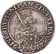 ⅛ Thaler - Johann Georg I (Protestant reformation) – obverse