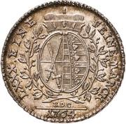 ⅙ Thaler - Friedrich August III. – reverse