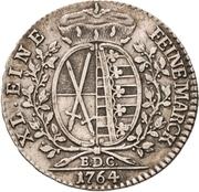 ⅓ Thaler - Friedrich August III. – reverse