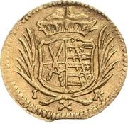 1 Pfennig - Johann Georg III. (Gold pattern strike) – obverse