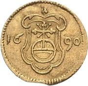 1 Pfennig - Johann Georg III. (Gold pattern strike) – reverse