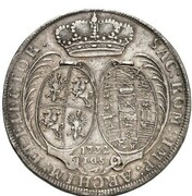2 Thaler - Friedrich August I. – reverse
