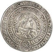2 Thaler - Christian II., Johann Georg I. and August (Death) – obverse