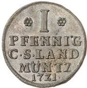 1 Pfennig - Friedrich August I. (Pattern) – reverse