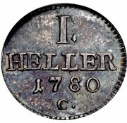 1 Heller - Friedrich August III. (Pattern) – reverse