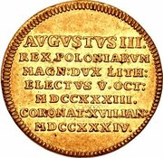2 Ducat - Friedrich August II. – reverse