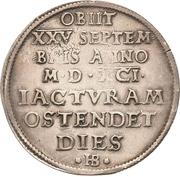 ½ Thaler - Christian I. (Death) – reverse