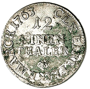 """1/12 Thaler - Friedrich August II (""""Doppelgroschen"""") – reverse"""