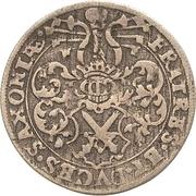 1 Groschen - Christian II., Johann Georg I. and August – obverse