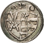 1 Pfennig - Christian II., Johann Georg I. and August – obverse