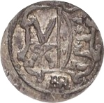 1 Pfennig - Christian II., Johann Georg I. and August – obverse