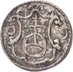 1 Pfennig - Christian II., Johann Georg I. and August – reverse
