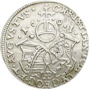 1 Groschen - Christian II., Johann Georg I. und August – reverse