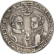 ⅛ Thaler - Christian II., Johann Georg I. und August – reverse