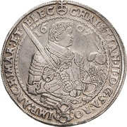 2 Thaler - Christian II., Johann Georg I. and August – obverse