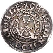⅛ Thaler - Christian II., Johann Georg I. and August – reverse