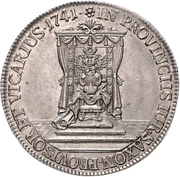 ½ Thaler - Friedrich August II. (Vicariat Issue) – reverse