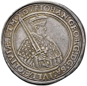 2 Thaler - Johann Georg I. (Vicariat) – obverse