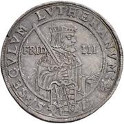 ½ Thaler - Johann Georg I. (Reformation) – reverse