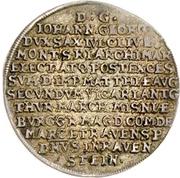 ⅛ Thaler - Johann Georg I. (Vicariat) – reverse