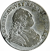 ⅙ Thaler - Friedrich August II – obverse