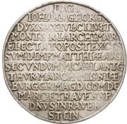 ½ Thaler - Johann Georg I. (Vicariat) – reverse