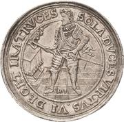 2 Thaler - Johann Georg I. (Accession; Affentaler) – obverse