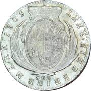 ⅙ Thaler - Friedrich August III – reverse