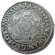 ¼ Thaler - Christian II, Johann Georg I and August – obverse