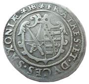 ¼ Thaler - Christian II, Johann Georg I. and August -  obverse