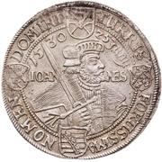 ½ Thaler - Johann Georg I. (Augsburg confession) – reverse