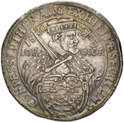 2 Thaler - Johann Georg I. (Augsburg confession) – obverse