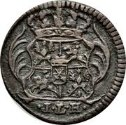 1 Pfennig - Friedrich August I – obverse