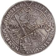 2 Thaler - Johann Georg I. (Augsburg confession) – reverse