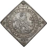 2 Thaler - Johann Georg I. (Klippe; Wedding) – obverse