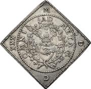 2 Thaler - Johann Georg I. (Klippe; Wedding) – reverse