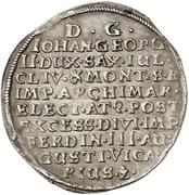 ⅛ Thaler - Johann Georg II. (Vicariat) – reverse