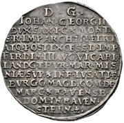 ½ Thaler - Johann Georg II. (Vicariat) – reverse