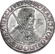 1 Thaler - Johann Georg II. (Dicktaler) – obverse