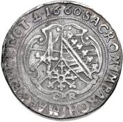 1 Thaler - Johann Georg II. (Dicktaler) – reverse