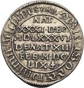 1 Groschen - Johann Georg II. (Death) – reverse