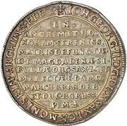 1 Thaler - Johann Georg II. (Death) – obverse