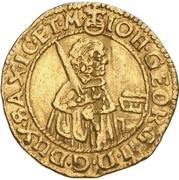 ½ Ducat - Johann Georg II. – obverse