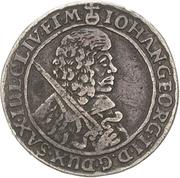½ Thaler - Johann Georg II. (Dicker Halbtaler) – obverse