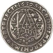 ½ Thaler - Johann Georg II. (Dicker Halbtaler) – reverse
