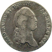 ⅓ Thaler - Friedrich August III – obverse