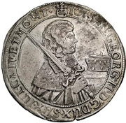 ½ Thaler - Johann Georg II. – obverse
