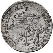 ½ Thaler - Johann Georg II. – reverse