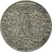 ⅓ Thaler - Friedrich August III – reverse