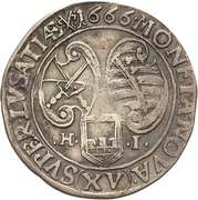 15 Kreuzer - Johann Georg II. – reverse
